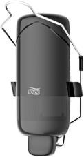560109 - S1- Tork zásobník na dezinfekciu a tekuté  mydlo s lakťovou pákou - plast čierny
