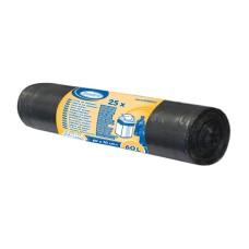 69660 - Igelitové vrecia LDPE / extra pevné /  600 x 700 mm  / 25 ks / 60 L / čierne